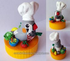 Gomez, the Zebra finch chef by emmil