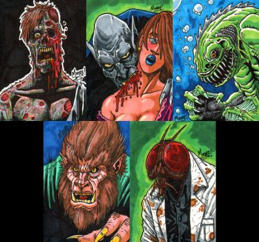 Monster Sketch Cards by SeanRM