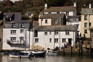 Polperro Fishing Village by parallel-pam