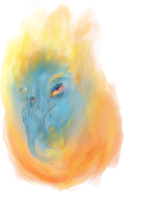 Calcifer Howl's Moving Castle by hatthecat123