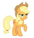 AppleJack lookin' cheezed off by SpikesMustache
