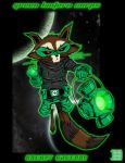 Rocket Raccoon Green Lantern by thesometimers