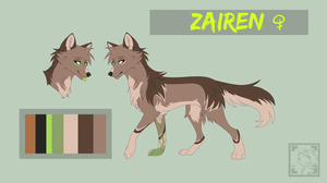 Zairen Ref Sheet by Pappins