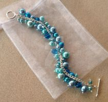 Cluster Bracelet - Turquoise by WhiteMagicPriestess