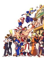 king of fighters family by GV23