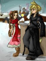 X-mas Cloud x Aerith by Rinny09
