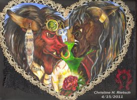 Motecuhzoma and Ciuacoatl WOW by Black-Feather