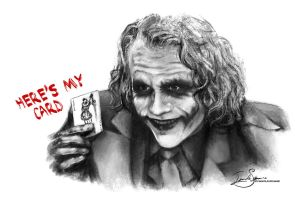 The Joker - Here's My Card by IngvildSchageArt
