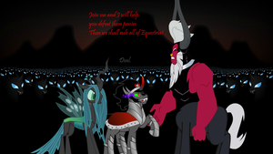 Sombra and Chrysalis joins Lord Tirek by Nukarulesthehouse1
