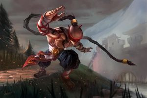 Lee Sin Fan Art by isso09