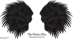 Black Angel Wing - Stock by Thy-Darkest-Hour