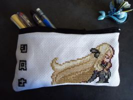 Cross Stitch Cynthia pencil bag by Miloceane