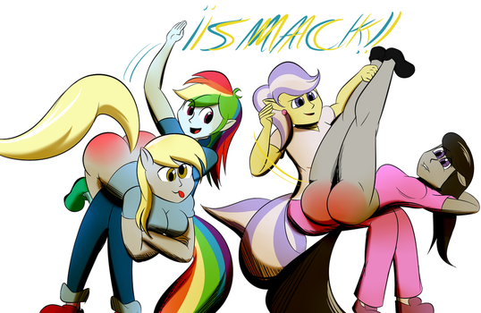 MLP equestria spanks. by the-killer-wc