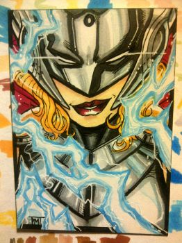 Sketch Card : Lady Thor by nork