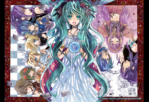My Flower and Notes Vocaloid by MistiousStar