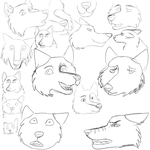 Help Plz/Redline: Muzzle Nose and Expressions by rockinwolf15