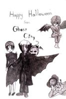 'Ghost City' Halloween by LordIceFox