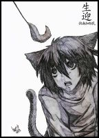 L Neko ~ Death Note by LucasTsilva