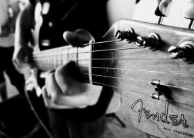 Fender. Black and white by Aroha-Photography
