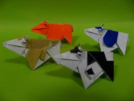 Origami Cows by GEN-H