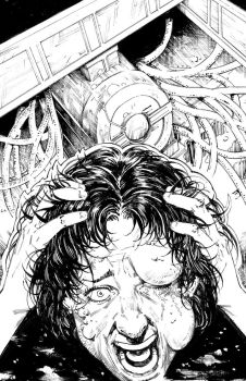 Invisible Hands #1 Cover BW by MikaelNoon92