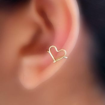 heart ear cuff by pikabee