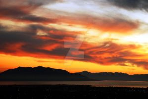 Utah Lake from Orem Cemetery by houstonryan
