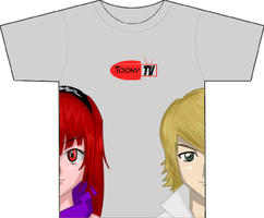 Ember and Dai Toony TV tee by R64-art