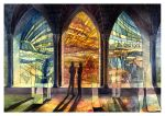 hallway of stained glass 2 by MinkuLul