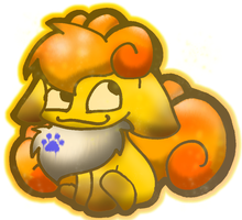 Gold the Vulpix by 0Shiny0