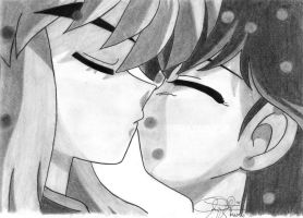 inuyasha and kagome KISS... by ax21