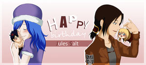 Gruvia + YmirHistoria for Jules by RuRinify