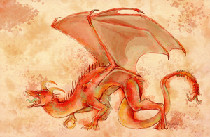 red dragon by Paleona