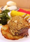 Parmesan and Herb Crusted Lamb Rack by cakecrumbs