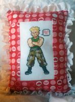 Lt. Surge stitched frilly pillow by starrley
