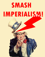 Anti Imperalist Poster by Party9999999