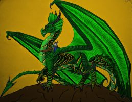 Kaine and Thorinen: Dragon and Rider- Color by Saberrex