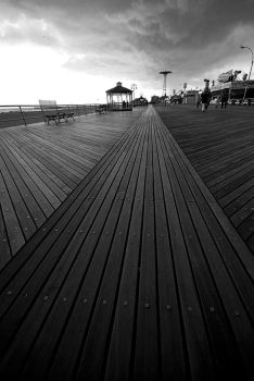 Coney Island Boardwalk by jeannewilson