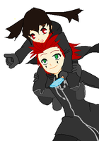 Me and Axel by LuzWalker101