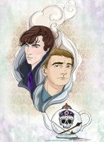A Tea Serving - Sherlock and John by sketchditto