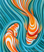 Swirling Koi V, revisited by shmeeden
