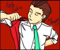 APOLLO JUSTICE in PAINT by LaylaPathos