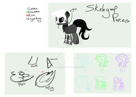 - Skelegoop Ponies mini ref - by XDragonxRebelX