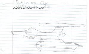 East Lawrence Class Paper Drawing by kaisernathan1701