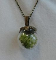 Necklace with floristic moss by SteamJo