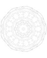 100 2015 Meditation Mandala by bcre80v