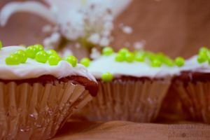 Green Dot Cupcakes by Bennettlizzy81
