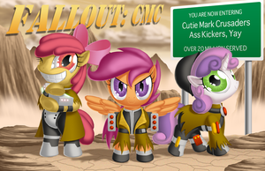 Cutie Mark Crusaders Post-Apocalyse, YAY by BerryPAWNCH