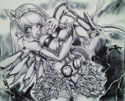 Anime girl in pen by drios