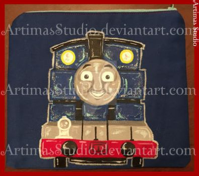 Commission - Thomas the tank Bag by ArtimasStudio